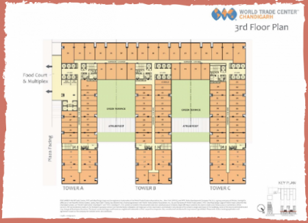 WTC Chandigarh office space layout 4th floor plan