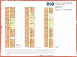 suits layout plan world trade center chandigarh mohali