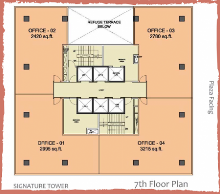 WTC-Chandigarh-Office Space 7th floor layout plan