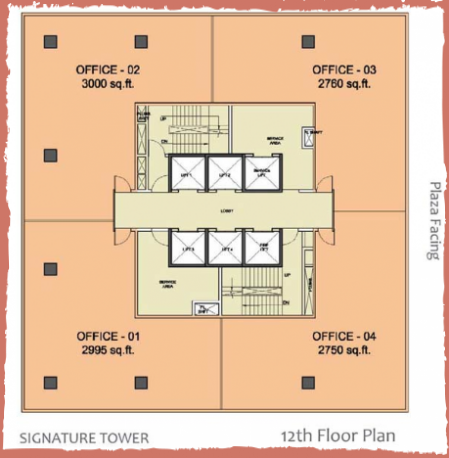 WTC-Chandigarh-Office Space 12th floor layout plan