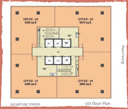 WTC-Chandigarh-Signature Office Space  5th floor layout plan