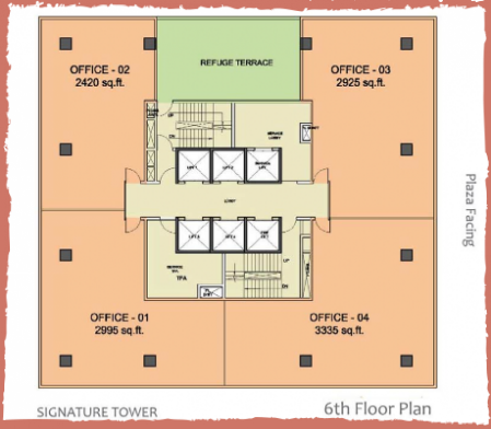 WTC-Chandigarh-Office Space 6th floor layout plan