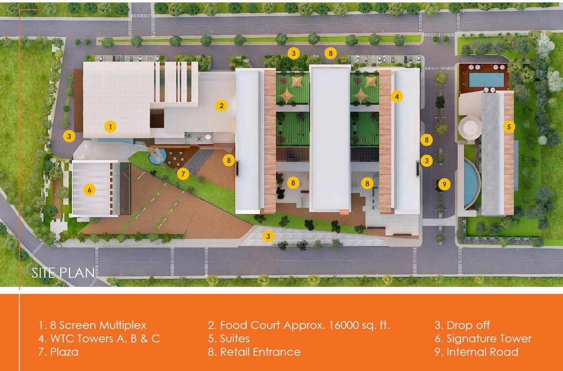 wtc world trade center chandigarh mohali site plan