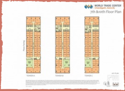 wtc mohali office spaces 7th floor layout